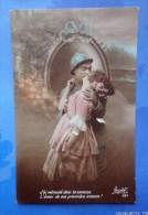 """CPA- Militaria  14/18 - Patriotique -  """"j´ai Retrouvé Dans Ta Caresse...- Poilu, Soldat, Jeune Femme, Baiser - War 1914-18"""
