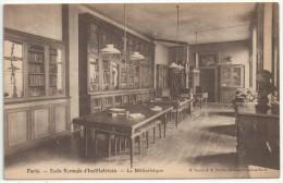 75 - PARIS 17 - Ecole Normale D'Institutrices (56 Boulevard Des Batignolles) - La Bibliothèque - Paris (17)