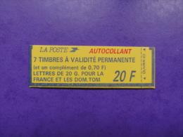 Marianne De Briat - Autocollant + 0,70 Autocollant - Carnet YT 1503 - Carnets