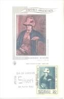 """PINTORES ARGENTINOS EDUARDO SIVORI 1847-1918 """"LA ESPOSA DEL PINTOR"""" FDC REPUBLICA ARGENTINA AÑO 1968 PEINTURE CARD - Arte"""