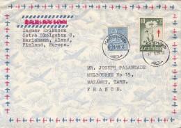 1959, LETTRE FINLANDE, MARIEHAMN Pour FRANCE /5290 - Finland