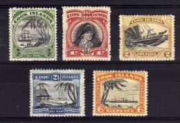 Cook Islands - 1933/36 - Definitives (Part Set, Single NZ & Star Watermark) - MH - Cook