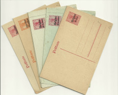 Lot Karten / Kartenbriefe WK1 Belgien/Rumänien - Besetzungen 1914-18