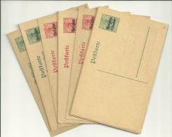 Bes. Belgien 9 Karten Und 1 Doppelkarte Ungebraucht - Besetzungen 1914-18
