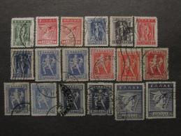 """GRECIA Regno -1913-23- """"Lithography"""" 18 Val. US° (descrizione) - Usati"""
