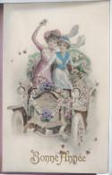 LITHO Couleur Illustrateur KRÄNZLE  KRAENZLE BKWI B.K.W.I. 332 Femme Femmes Fille Dans Voiture Tacot Fleurs Ecrite 1915 - Kraenzle