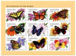 Tanzanie Tanzania - Butterflies Of The World - 1998 - Tanzanie (1964-...)
