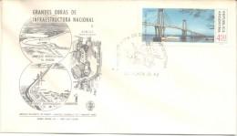 PUENTE BARRANQUERAS CHACO CORRIENTES SOBRE ARGENTINA FDC AÑO 1974