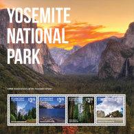 ST. VINCENT & THE GRENADINES ,2014, MNH,YOSEMITE NATIONAL PARK II, MOUNTAINS, WATERFALLS,  SHEETLET T+SS, BEAUTIFUL!! - Geology