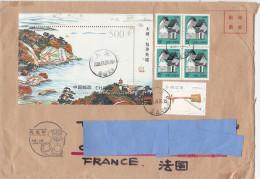 W] Belle Nice Lettre China China Mini-feuillet Paysage Mini-sheet Landscape Music Instrument De Musique Chien Dog - Covers & Documents
