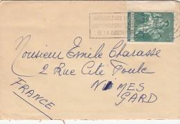 1959, LETTRE BELGIQUE,  MONS Pour  FRANCE /5330 - Belgio