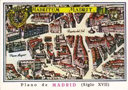 España--Madrid--Plano De Madrid--siglo XVII--Puerta Del Sol--Franqueo Madrid-a, Bruxelles, Belgica - Mapas