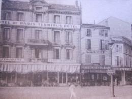 1947 CPA Valence Pce De La Gare Et Statue De Bancel-devant De Magasin,hôtel De Paris Terminus(Drôme)région Rhône-Alpes. - Valence
