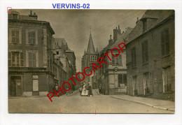 VERVINS-Magasins-Carte Photo Allemande-Guerre14-18-1WK -France-02- - Vervins