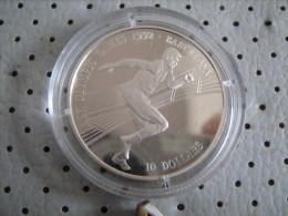 COOK IOSLANDS 10 Dollars 1990 Olympic Games Barcelona Runner Silver Proof - Cook Islands
