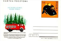 POMP-L10 - POLOGNE Entier Postal Illustré Sapeurs Pompiers - Sapeurs-Pompiers