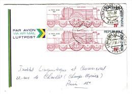 Marcophilie - Gabon - Lettre Par Avion, Cahet De Libreville Lalala 17/10/1975 - 2 Timbres 25 F La Iron Duke - Gabon