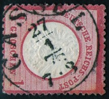 Cassel 27/1 1875 Auf 1 Groschen Karmin - DR Nr. 19 Als Pfennig-Marke Verwendet - Pracht - Deutschland