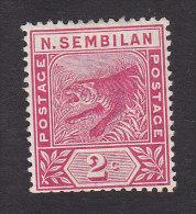 Negri Sembilan, Scott #3, Mint No Gum, Tiger, Issued 1891 - Negri Sembilan