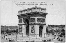 PARIS : L´Arc De Triomphe De L´Etoile 6 CM NEUVE - Arc De Triomphe