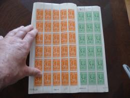 Monaco ** En Planche.Europa. 1966 TP N°698/699.Valeur 66€. Petite Adhérence Sur Haut D´1 Feuille - Europa-CEPT