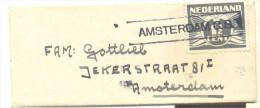 _ik151: Omslagje: 4,0 X 9,7 Mm : AMSTERDAM C.S. Tussen 2 Lijnen... - 1891-1948 (Wilhelmine)