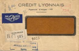 """Algerie Algeria 1950 Alger Bourse Meter Franking Havas """"C"""" 0014 EMA Registered Cover - Brieven En Documenten"""