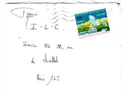 Marcophilie - Algérie - Lettre  - 1975 - Timbre 1.20 Télécommunication Par Satélite - Algeria (1962-...)