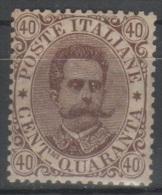 ITALIA 1889 - Effigie 40 C. **    (g4533) - 1878-00 Umberto I