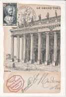 CM France - Exposition Philatélique Et Congrès Fédéral - Bordeaux - 1951 - 1950-59