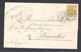 GIRONDE - Cachet De BORDEAUX LES CHARTRONS  Sur Lettre Avec  25 C Type Sage - Marcophilie (Lettres)