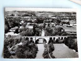Carte Postale Ancienne : LAVARDAC : Vue Aérienne, Le Pont Du Chemin De Fer En 1958 - Lavardac