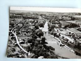 Carte Postale Ancienne : LAVARDAC : Vue Aérienne, Panorama Sur La Baïse En 1959 - Lavardac