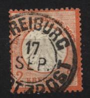 D.R.Nr.8-dünne Stelle,Baden-o,Freiburg Stadt-Post  (5840) - Deutschland