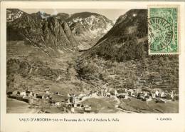 PANORAMA De LA VAL D' ANDORRA LA VELLA  1951  - V. CLAVEROL - Andorra
