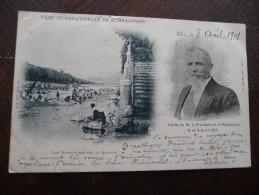 CPA Nice Précurseur 1901.Fête Internationale De Gymnastique. Visite Du Président De République.Multivue - Viste Panoramiche, Panorama