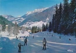 Cp , Sport , Ski , LE PLANOLET , La Piste Du CUCHERON , Voyagée , Ed : Combier - Sports D'hiver