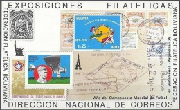 Soccer Fussball Football Bolivia Bl 81 1978 World Cup In Argentina MNH ** Aviation Lindbergh - World Cup