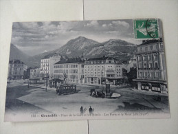 Grenoble Place De La Gare Et Les Hotels Les Forts Et Le Mt Jalla 1901 - Grenoble