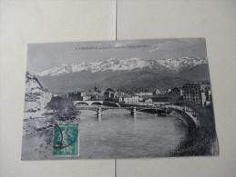 Grenoble L'Isere Les Quais Et La Chaine Des Alpes1911 - Grenoble