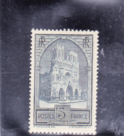 TIMBRE N° 259 -CATHEDRALE DE REIMS - NEUF X  -  COTE : 77 € - Unused Stamps