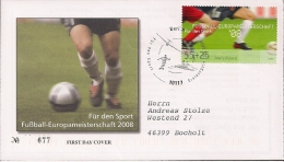 2008  Deutschland Yv  2475  Mi  2650  FDC  Fußball-Europameisterscha Ft - [7] Repubblica Federale