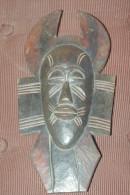 MASQUE AFRICAIN Ancien Bois Sculpté 28.5 Cm - Art Africain