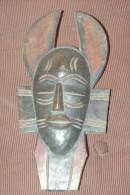 MASQUE AFRICAIN Ancien Bois Sculpté 28 Cm - African Art