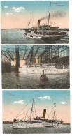 Lot 3 CPA De Stettin 1917 En Pologne Sur Le Thème Des Bateaux : Heringsdorf, Vulkan, Freia - Poland