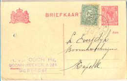 _Nx249: Briefkaart: 5 + 2 ½  Cent :  SCHIJNDEL 23.III .21 >  Kapelle - Postal Stationery