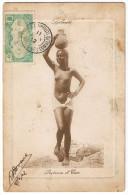 Afrique Djibouti Porteuse Eau 1912 Seins Nus Vase  Rare Bon état Timbre Somalis - Djibouti