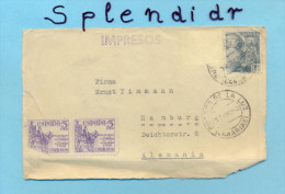 Espana-Spain-puerto Luz Canarias To Hamburg-cover-1946 - 1931-Heute: 2. Rep. - ... Juan Carlos I
