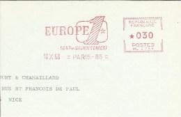 Lettre  EMA  1968  Europe 1  Grande Ondes Radio Sciences  Theme 75 Paris A10/39 - Télécom