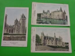 Lot De 3 Images Collection Solutions Pautauberge .serie 6e Et 7e Nevers Palais Ducal-mortree Chateau D'o-pau Le Chateau - Vieux Papiers